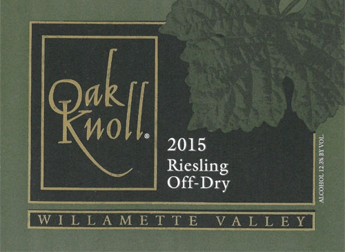 2015 Off Dry Riesling
