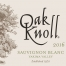 2016 Sauvignon Blanc Oak Knoll Winery